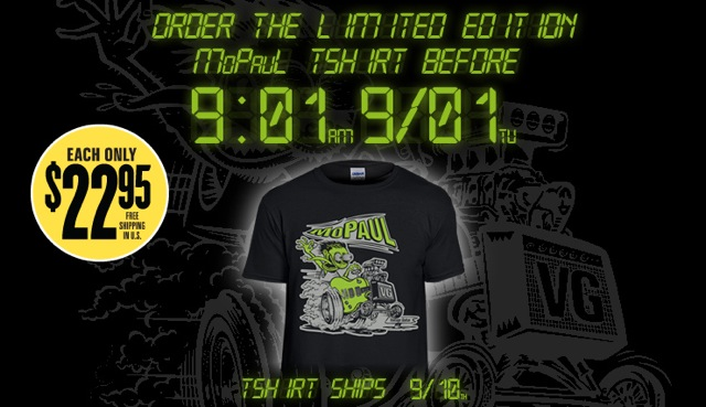 AVAILABLE FOR A LIMITED TIME, ORDER NOW! New VG 'MoPaul' T-Shirt