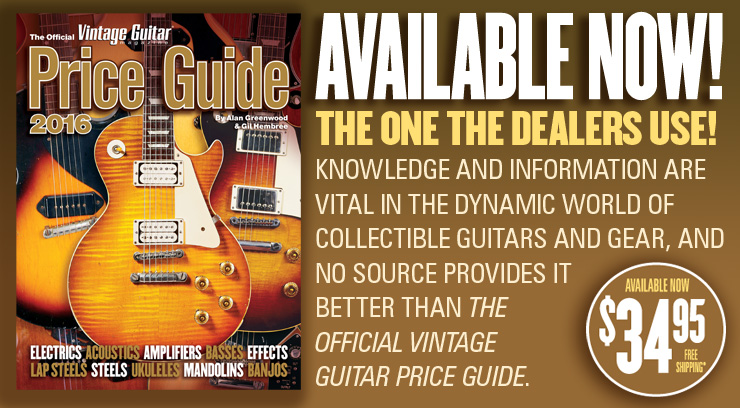 AVAILABLE NOW! The Official Vintage Guitar Price Guide 2016