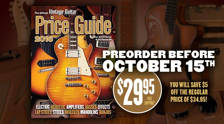 PRE-ORDER NOW! The Official Vintage Guitar Price Guide 2016