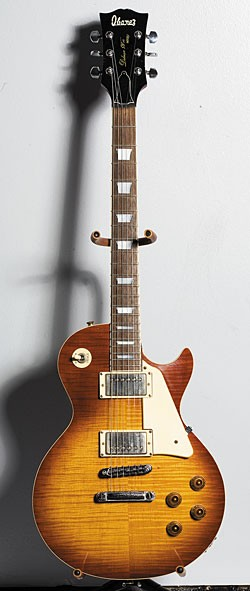 1976 Ibanez Deluxe 59'er Model 2340 with figured maple top in Cherry Sunburst.