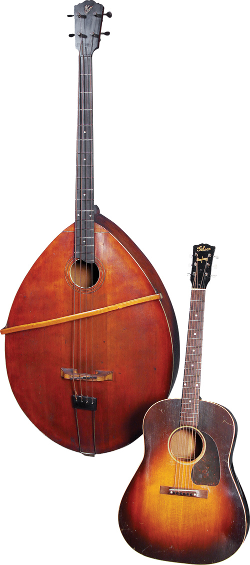 Style J and a Gibson flat-top.