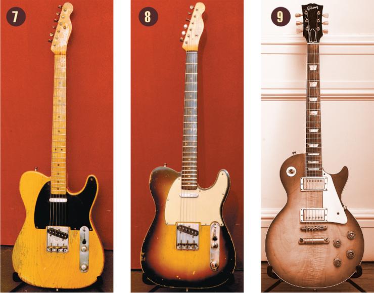 1951 Fender nocaster 1960 Fender Telecaster Custom Vintage Guitar magazine Billy Squire 1958 Gibson Les Paul Standard.