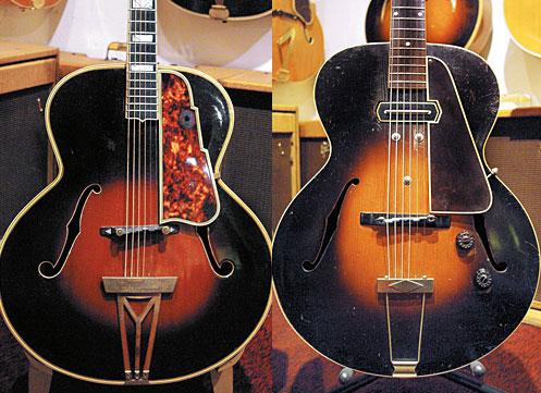 '40s Stromberg Master 400. '36 Gibson ES-150.