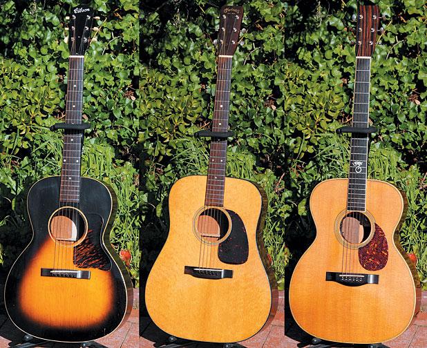'37 Gibson L-00. '56 Martin D-18. '88 Santa Cruz OM.