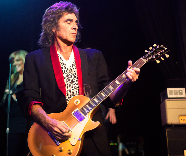 Wally Stocker with a Les Paul goldtop in 2013. Photo: Alex Solca.