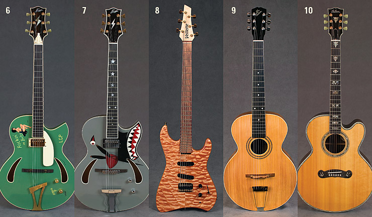 Steve Miller guitars 6-10