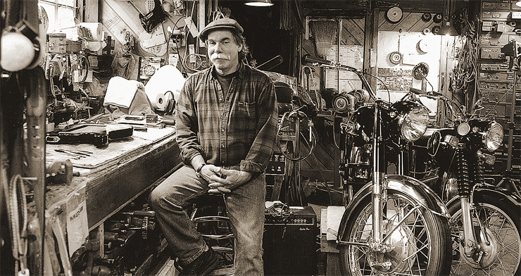 Gene Parsons in his shop.
