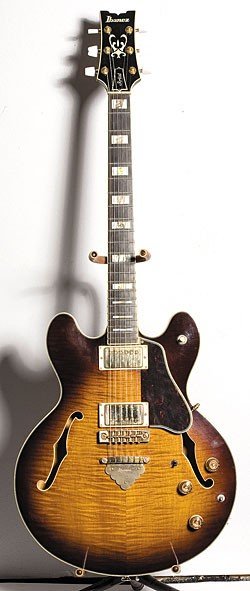 "1979 Ibanez Artist Model 2630 semi-hollow in Antique Violin finish. ""It's one of my favorite guitars,"" says Gilbert. ""If my house was on fire, that's definitely one of the instruments I'd grab first. It's really incredible."""
