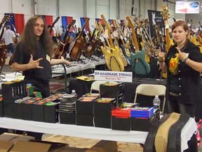 Steve from DR Strings and his friend Leanne Martz from Taylor's Music.
