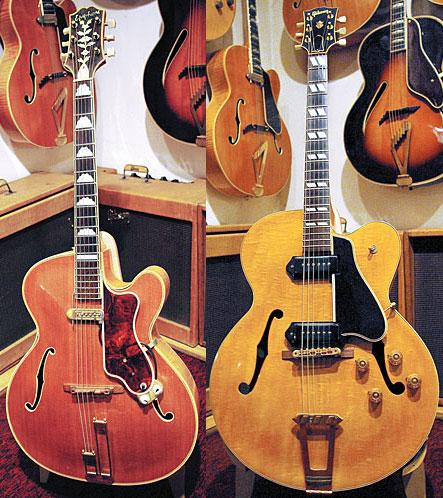 Jay Geils with his 1936 Gibson ES-150 and '61 Ferrari 250 GTE