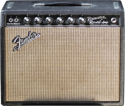 "This '66 Fender Princeton Reverb is, ""One of my most cherished pieces. It's untouched – original filter caps, original gold-label Jensen. I've used it live countless times. The 6V6 breakup is the sweetest of all. There is no more versatile amp in the studio."""