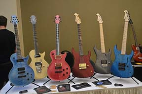 Macpherson Guitars displayed awesome colors and excellent playability.