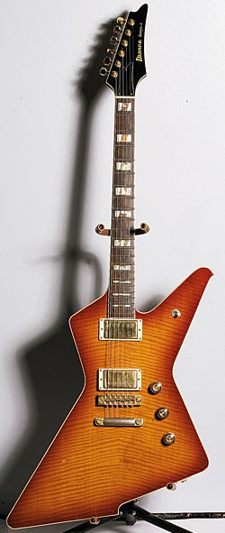 Early-'80s Ibanez Destroyer II in Cherry Sunburst.