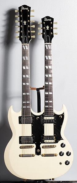 '70s Ibanez Double Axe 6/12 Model 2402 in Ivory.