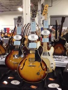 1960 Gibson ES-330TD, 1963 ES-345TD and 1971 Telecaster Bass at Jim's Guitars.