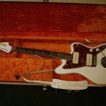 64 Jazzmaster Olympic white with blonde case.