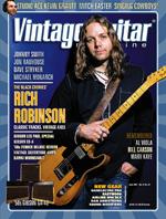 Rich Robinson Vintage guitar magazine June 2017