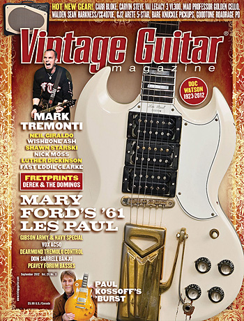 Vintage Guitar magazine September 2012