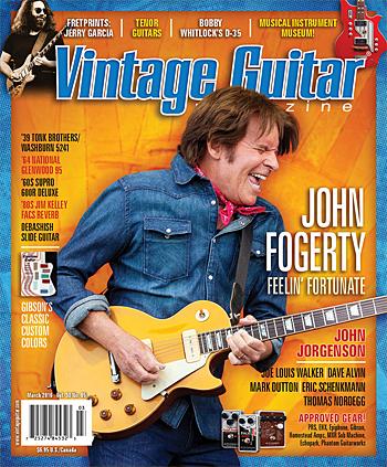 Vintage guitar magazine March 2016 John Fogerty John Jorgenson