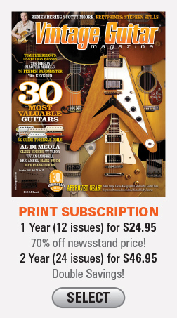 Vintage Guitar magazine subscription Print