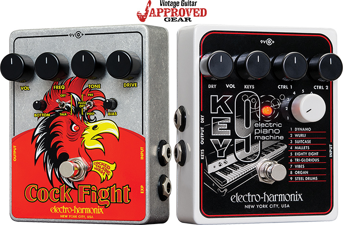 Look for the EHX Cock Fight and Key9 in VG Approved Gear!