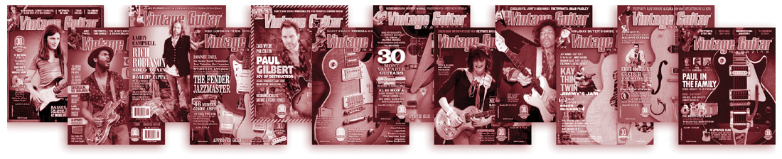 SAVE NOW! Vintage Guitar magazine $14.95