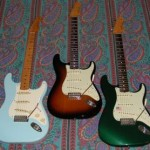 3 fender stratocasters