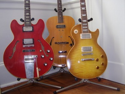 3 guitars