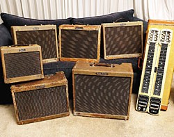Bonamassa's tweed Fender amps, with a '57 Fender steel.