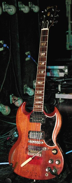 Frank Marino's touring 1960s Gibson SG/Les Paul Standard.