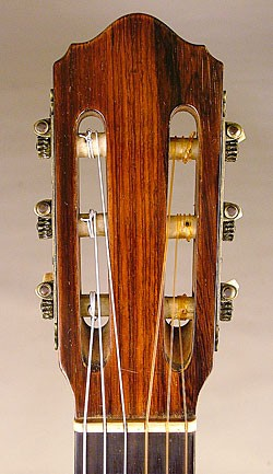 Headstock of one of the lefty 'bursts