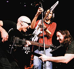 Satch with Paul Gilbert and John Petrucci