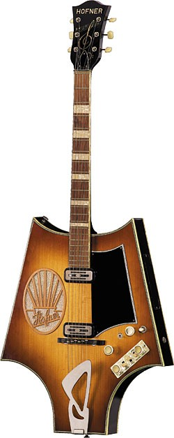 The Höfner Fledermaus belonging to Christian Benker