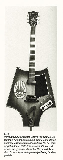 The Fledermaus as it appeared in Elektro-Gitarren
