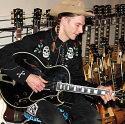 Shelton Hank Williams III with the  1955 Gibson ES-175 Special Wurlitzer.