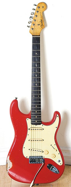 1962 Fender Stratocaster in Fiesta Red.