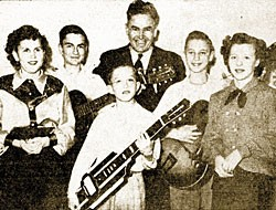 Coppock and his students, 1951. Image courtesy Wenatchee Daily World.