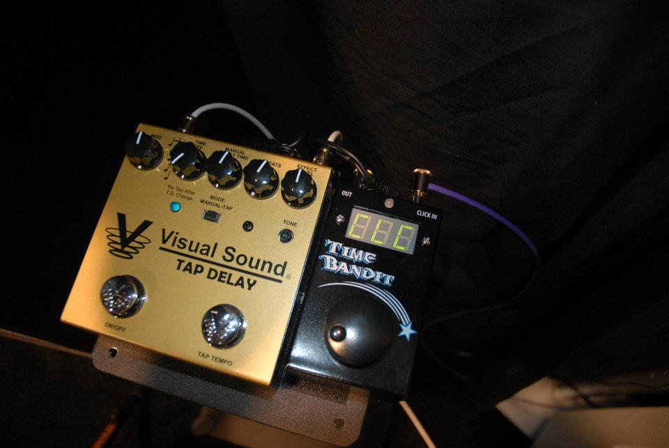 The Visual Sound Tap Delay and Time Bandit (which converts click track signals into a tap tempo signal that can be used with time-based effects).
