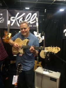 Saul Koll and the new gold-leaf Koll Duo Glide.