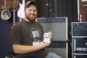 3rd Powers Amplification's Brett Moore was all smiles showing off his new Roosevelt Pedal.