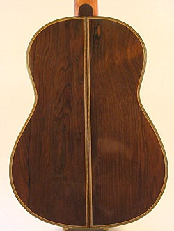 Back of the guitar showing the two halves