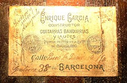 Garcia label showing Simplicio's over-written signatur