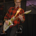 """Saturday Night Live"" guitarist Jared Scharff gives the Fano Sphere a workout"