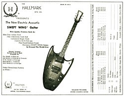 Order form for the '67 Hallmark Swept Wing