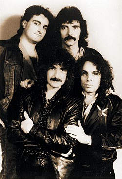 Black Sabbath in 1980: Vinny Appice, Geezer Butler, Tony Iommi, Ronnie James Dio