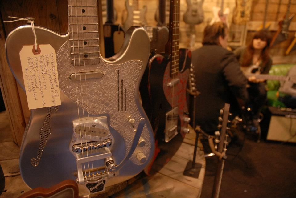 This Deluxe SteelCaster incited many a case of gear lust, in the booth at James Trussart Custom Guitars