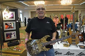 Luthier Mike Lipe displays his wares at Lipe Guitars.