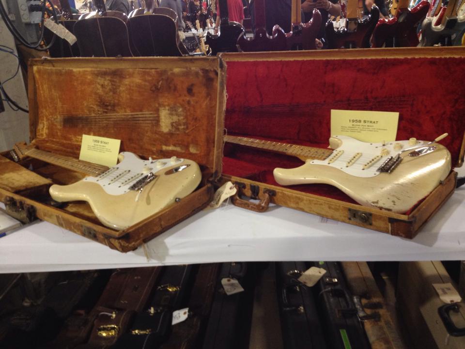 '59 & '58 blondes at Best Guitars.