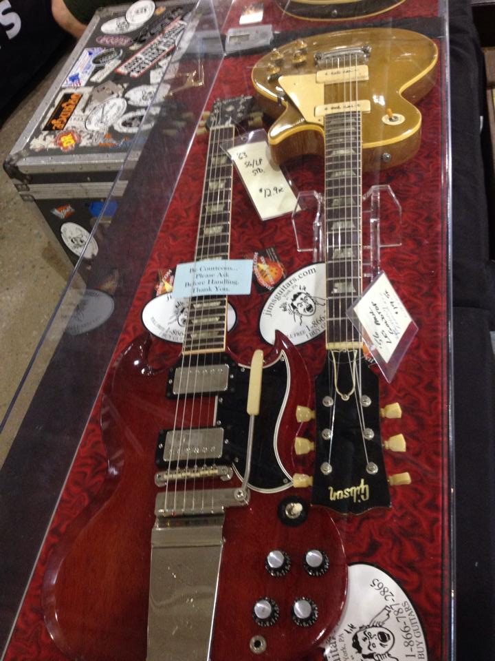 63 Gibson SG Les Paul Standard and '56 goldtop at Jim's Guitars.