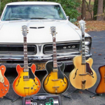 cool guitars and car